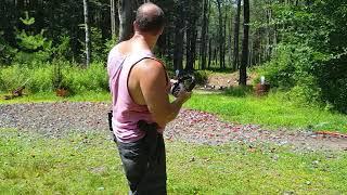 Glock 17 Aqua-Shooting exercise for situational awareness