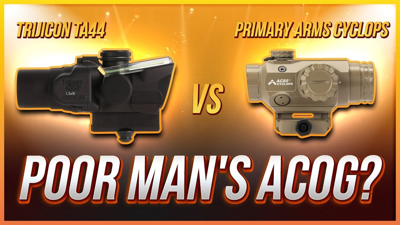 Poor Man's ACOG? Trijicon TA44 vs Primary Arms Cyclops Torture Test