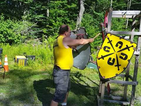Axe and Shield combat techniques