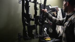 Gun Wall Rack - Hold Up Displays