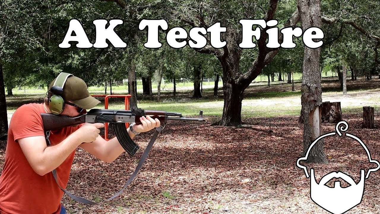 East German AK Test Fire