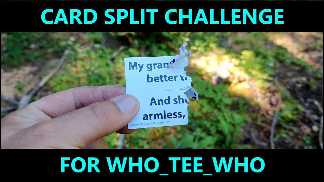 WHO_TEE_WHO Card split challenge!
