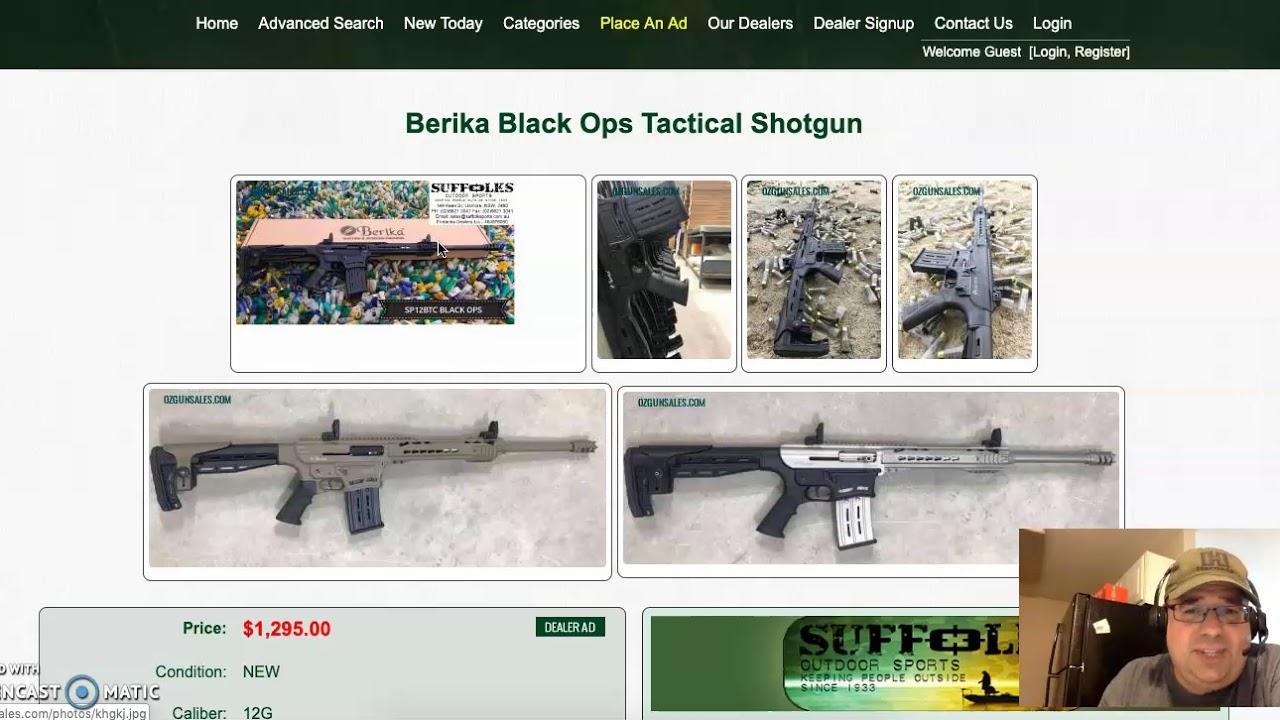 Australia bans Berika shotgun because it looks like a machine gun!