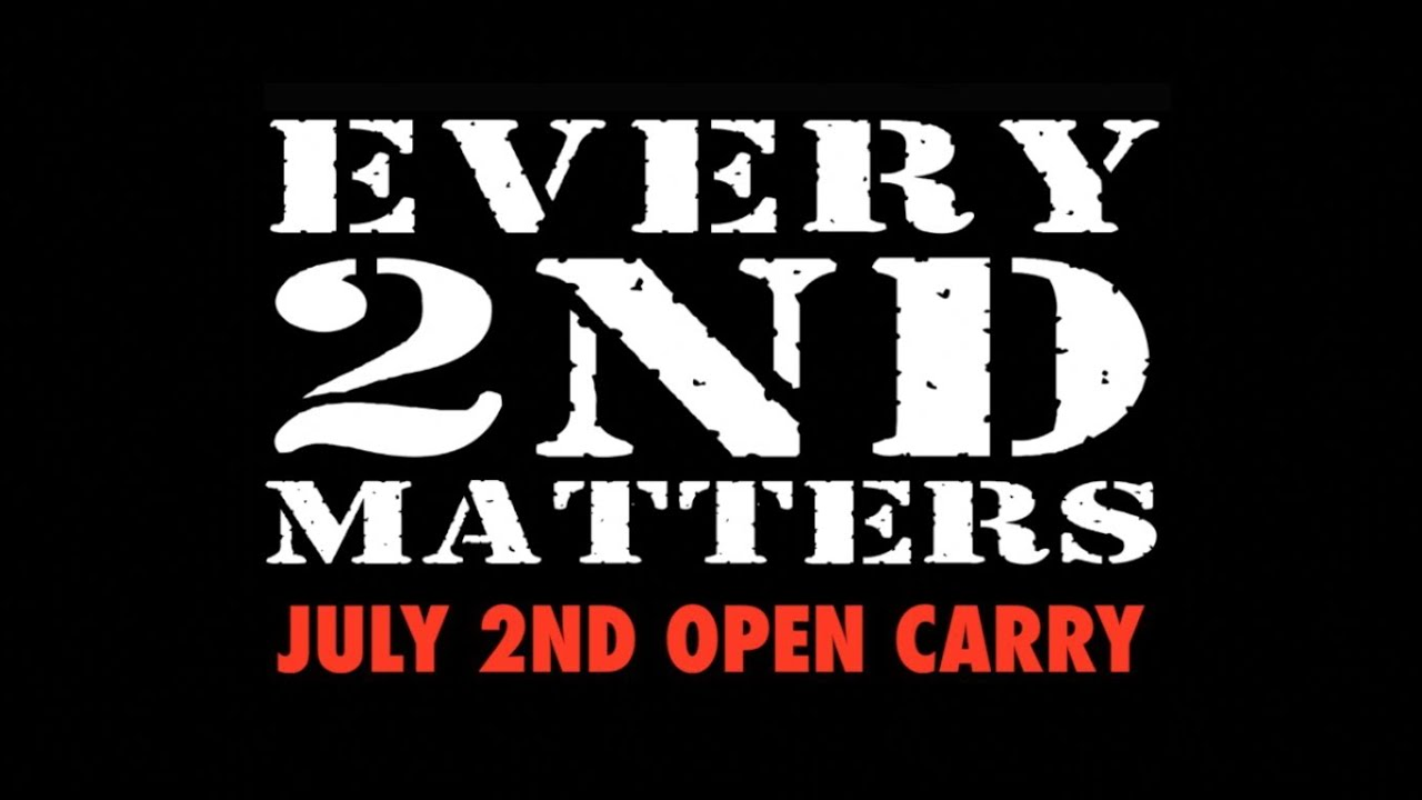 Every 2nd Matters: July Open Carry - 2014