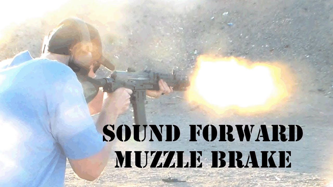Sound forward muzzle brake