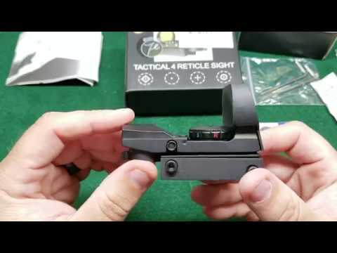 Feyachi RS-29 Tactical 4 Reticle Reflex Sight Unboxing And First Impressions