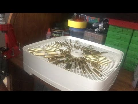 Drying brass with a food dehydrator