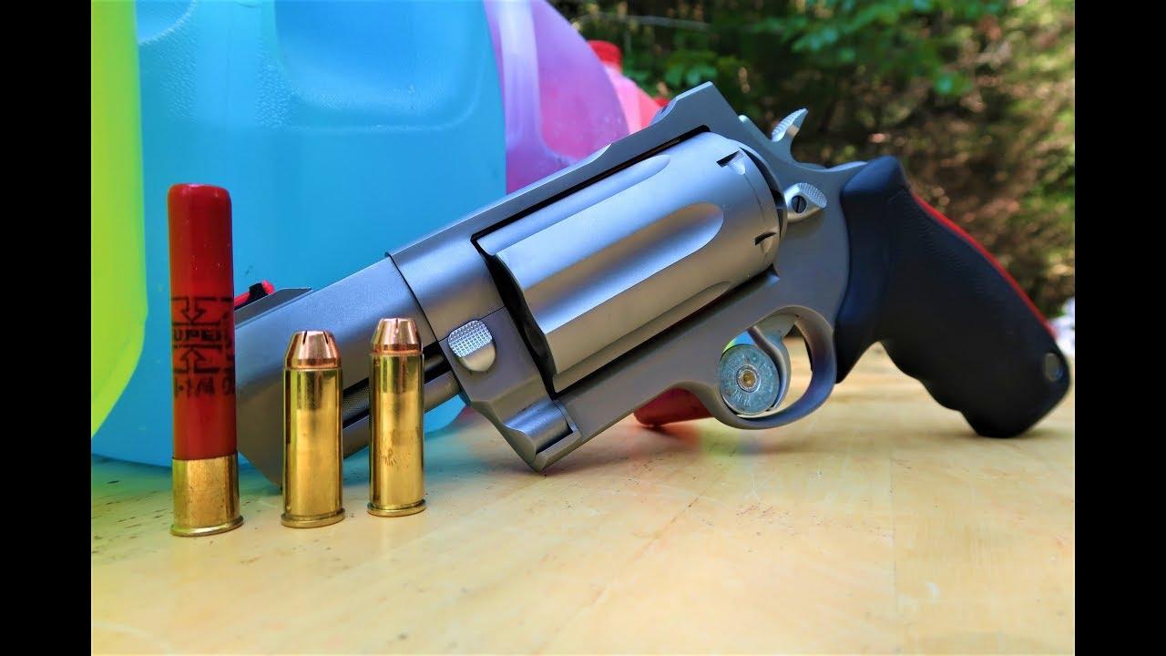 Taurus Raging Judge Magnum - How Many Milk Jugs??? - model 513