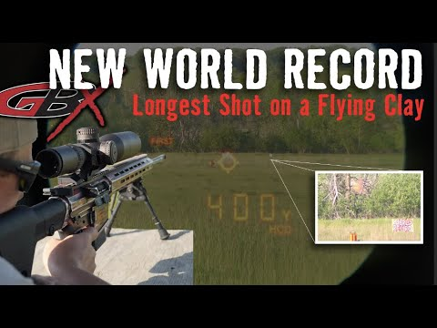 Worlds Longest Shot on a Flying Clay 400+ yards | Gould Brothers