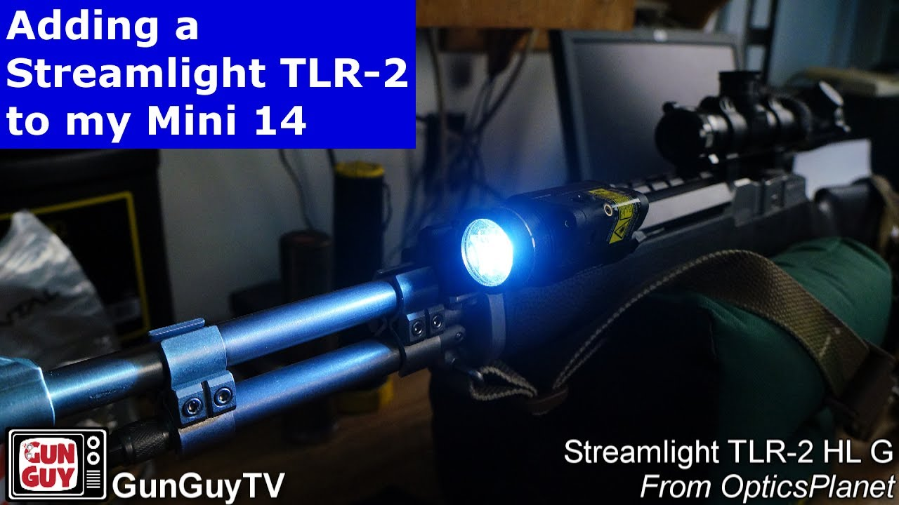 Reviewing the Streamlight TLR 2 HL G added to my Ruger Mini-14