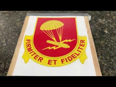Wooden sign Project ( FIRMITER ET FIDELITER) for my Friend ThoughtsOfAnOldSoldier. Part 1