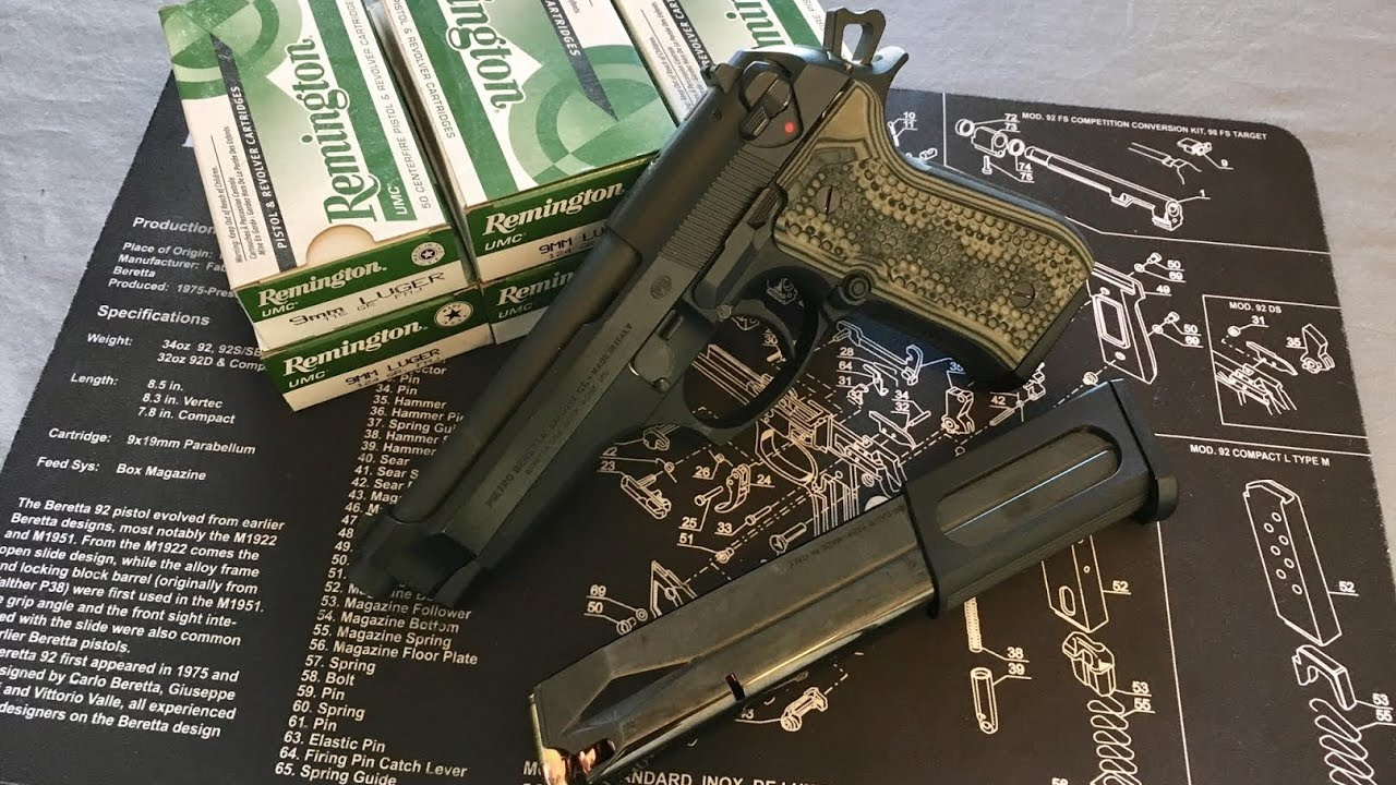 Beretta 92FS - Part 2 - Close-Up and Range Review