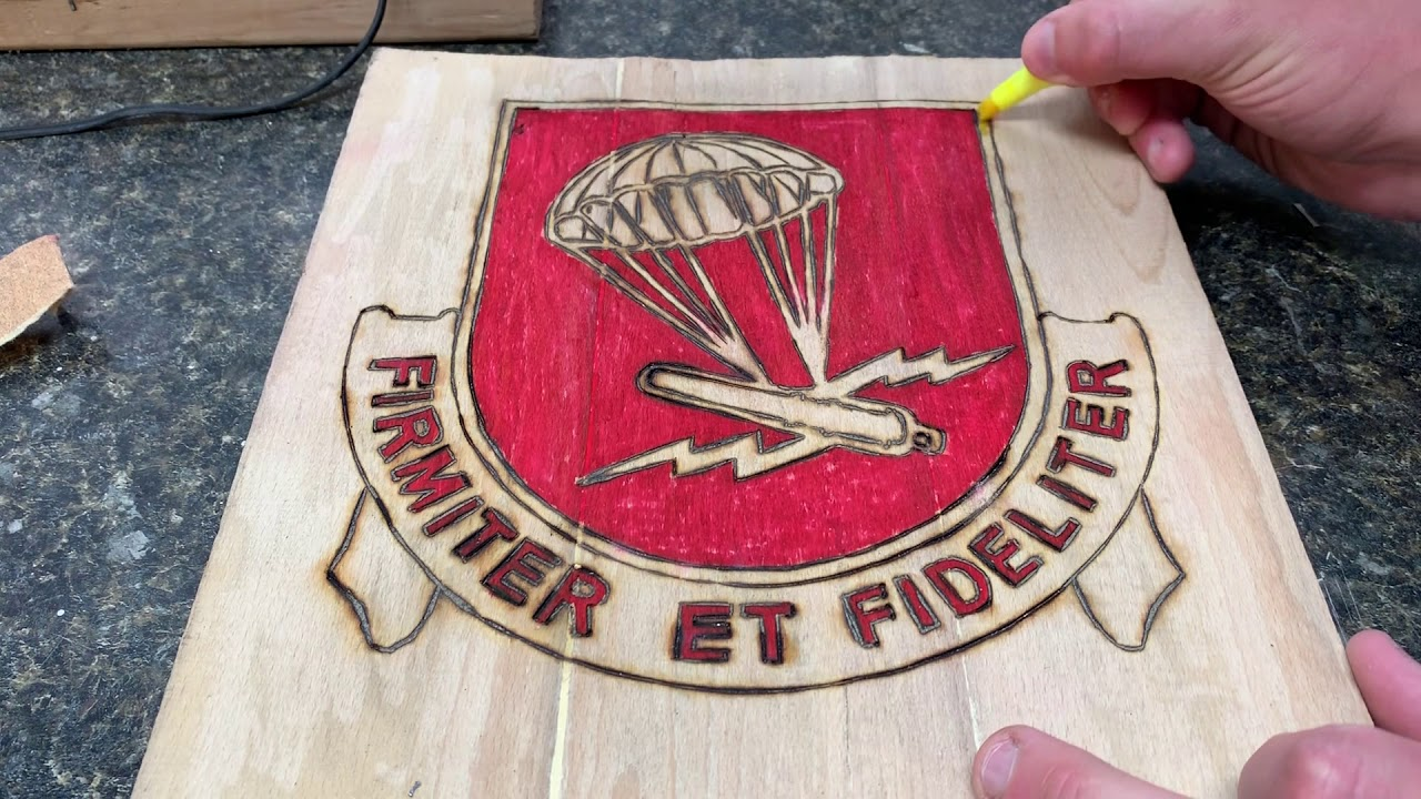 Wooden sign Project ( FIRMITER ET FIDELITER) for my Friend ThoughtsOfAnOldSoldier. Part 3 Finished!