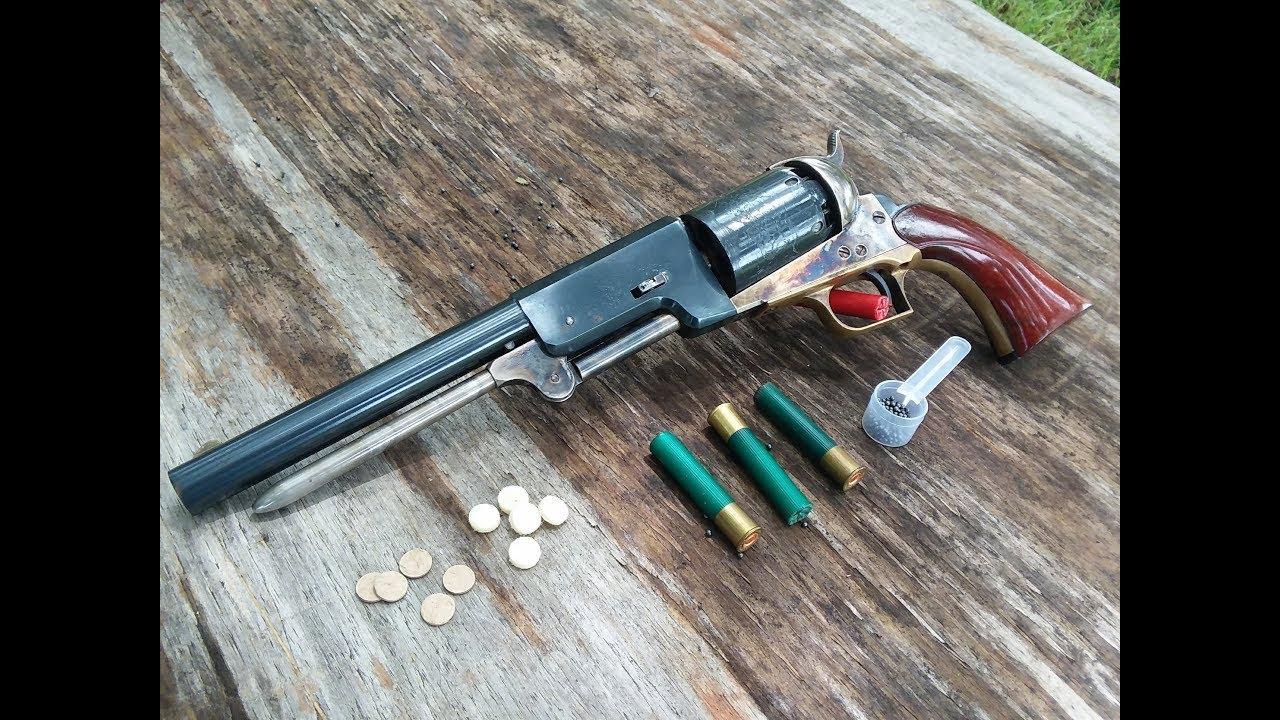 Birdshot in a Colt 1847 Walker Revolver?