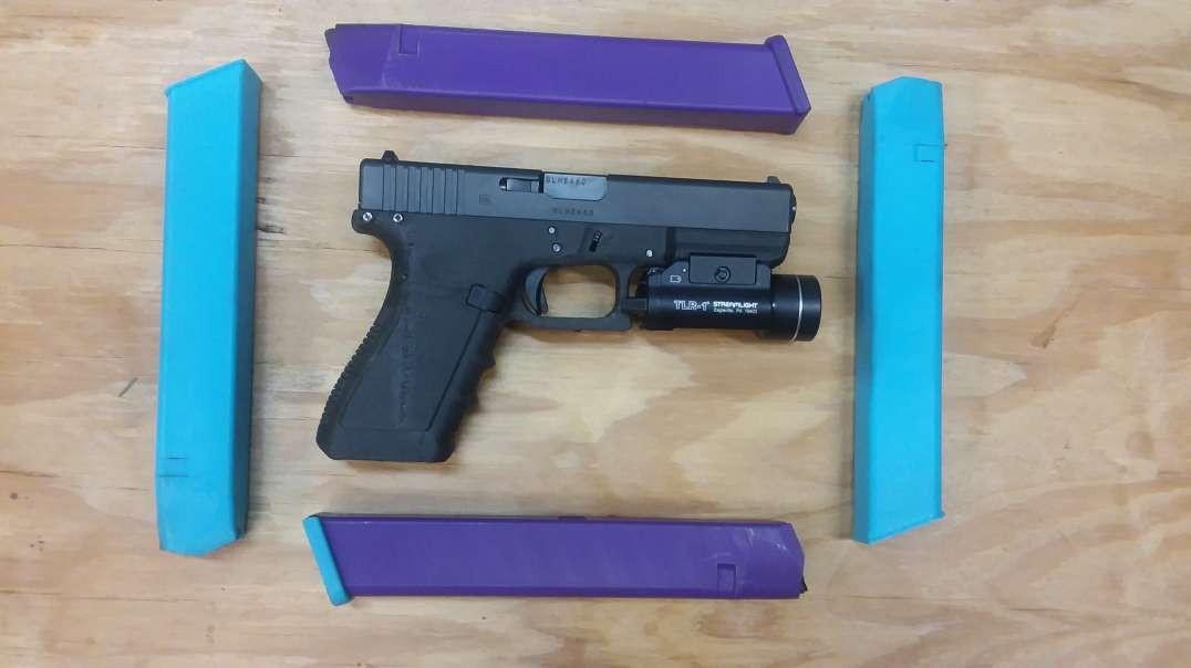 Extendez Mag Fire Test - 3D Printed 30 round Glock magazine