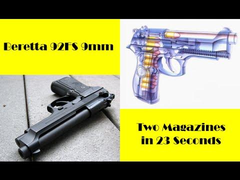 Shooting the Beretta 92fs 9mm Rapid Fire
