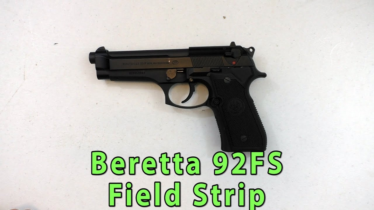 Beretta 92FS Disassembly (Field Strip) Quick Tutorial