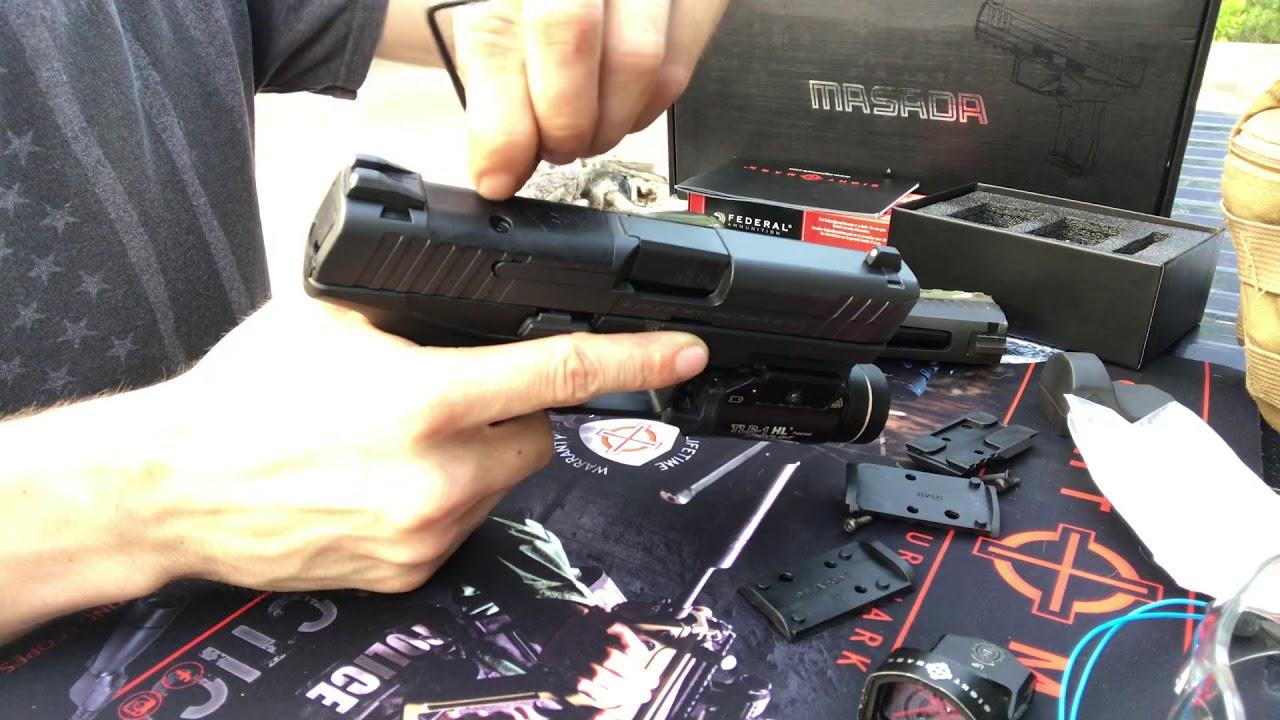 IWI Masada 9mm ORP-Mounting the Sightmark Mini Shot M Spec