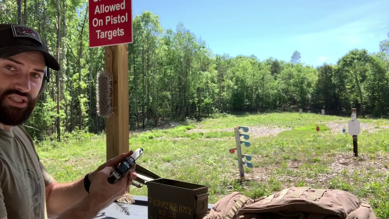 Glock 43X On Steel at 9yds