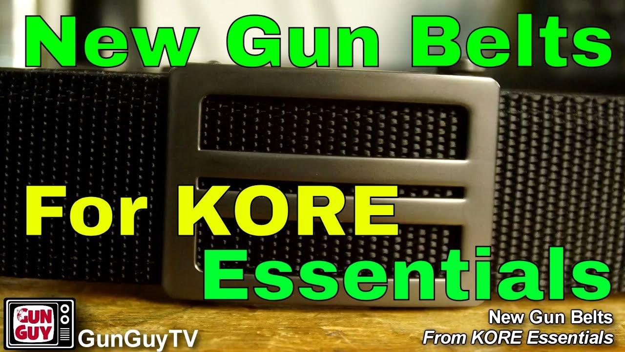 New Gun Belts From KORE Essentials