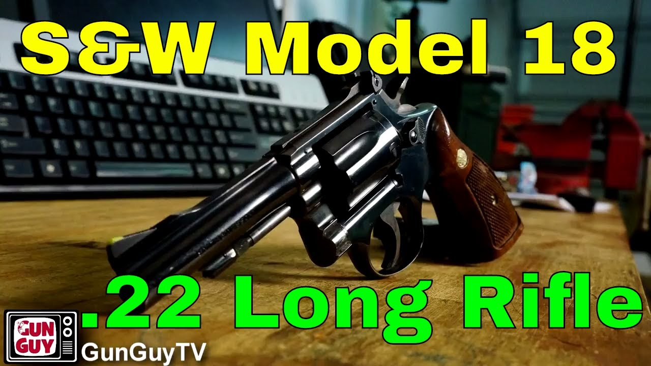 Fabulous Smith & Wesson Model 18-3 Revolver in .22 Long Rifle