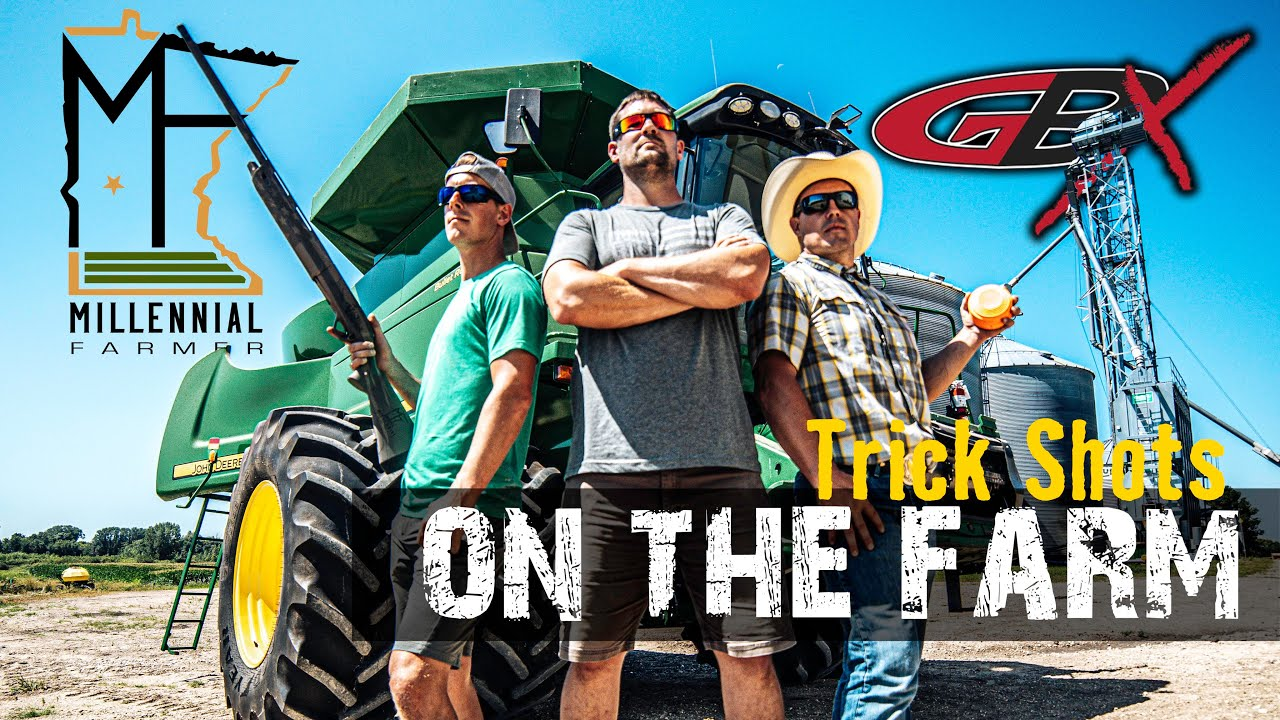 Trick Shots on the Farm with the Millennial Farmer 🚜 Gould Brothers