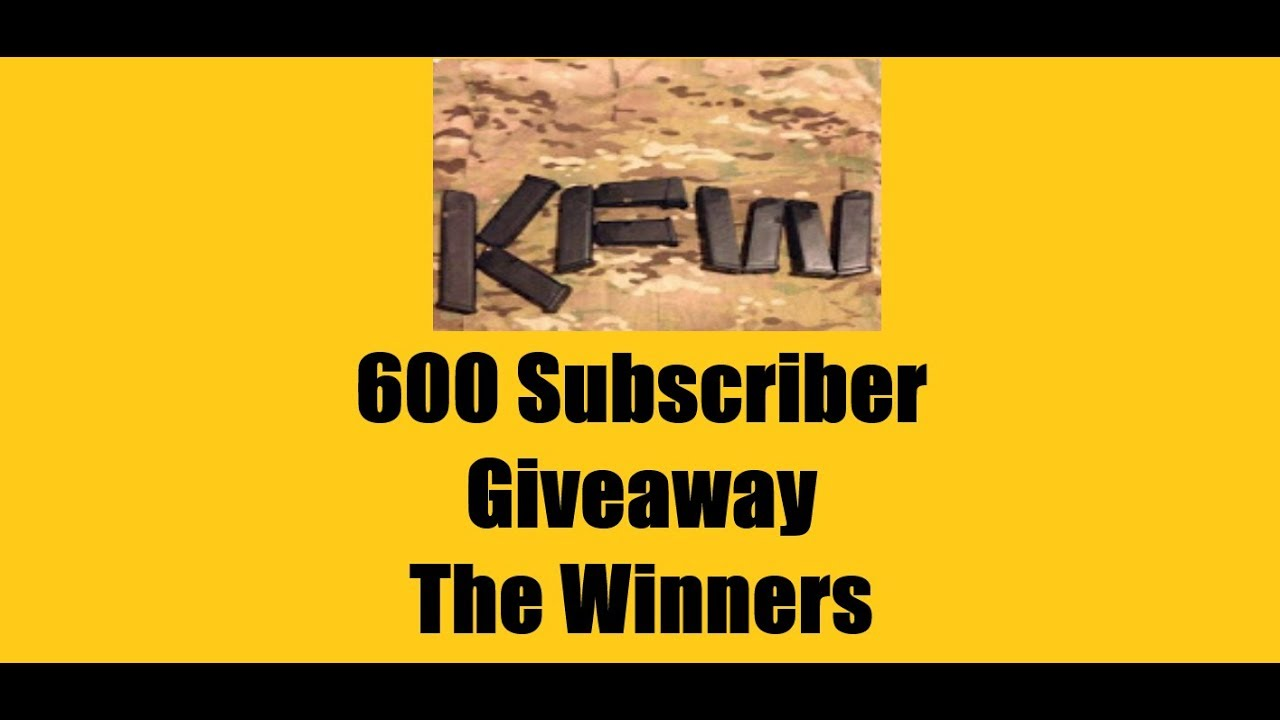 KFW 600 Subscriber Giveaway - The Winners