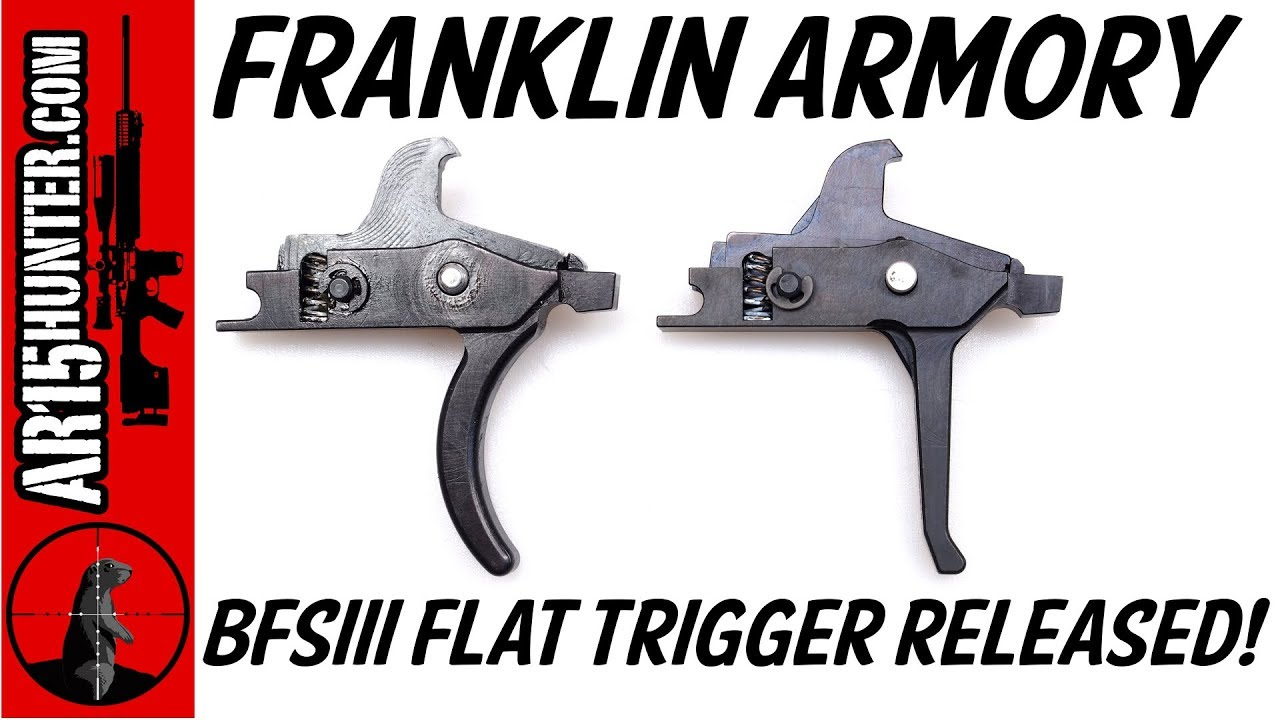 Franklin Armory BFSIII Flat Trigger Released!