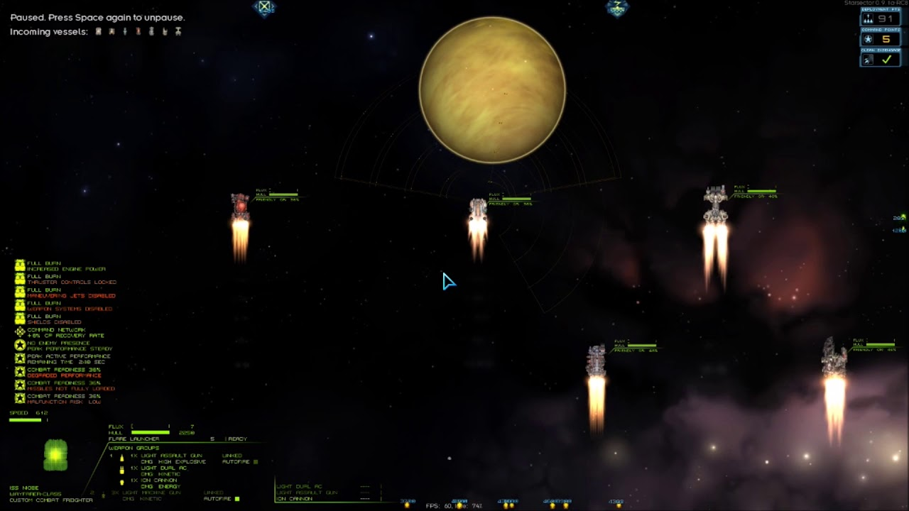 Starsector: Combat experince