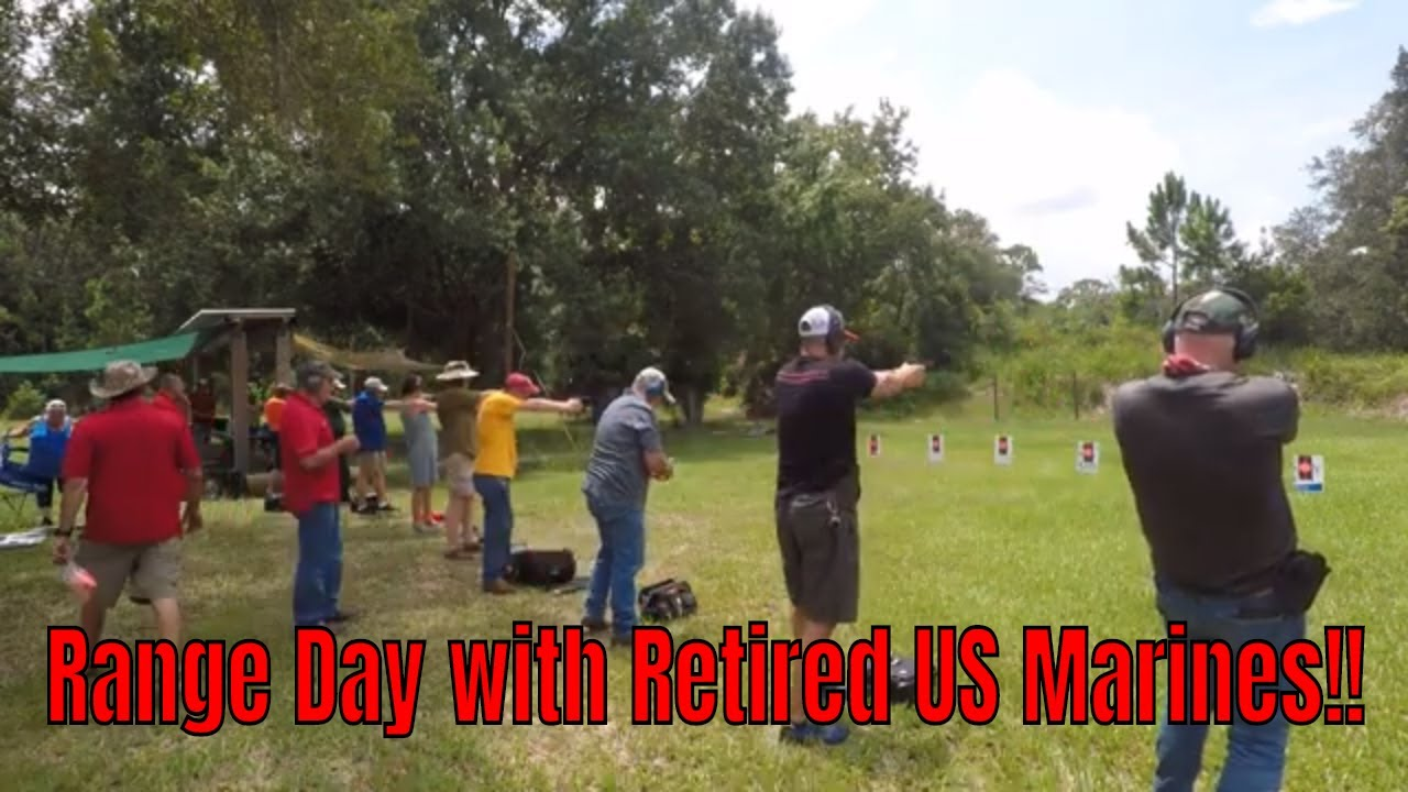 Range Day with Retired US Marines