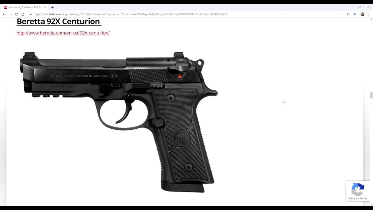 Новая серия Beretta 92X - Оружейные Новости