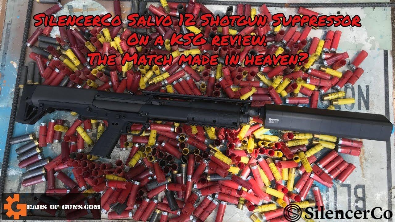 SilencerCo Salvo 12 on a KSG Review