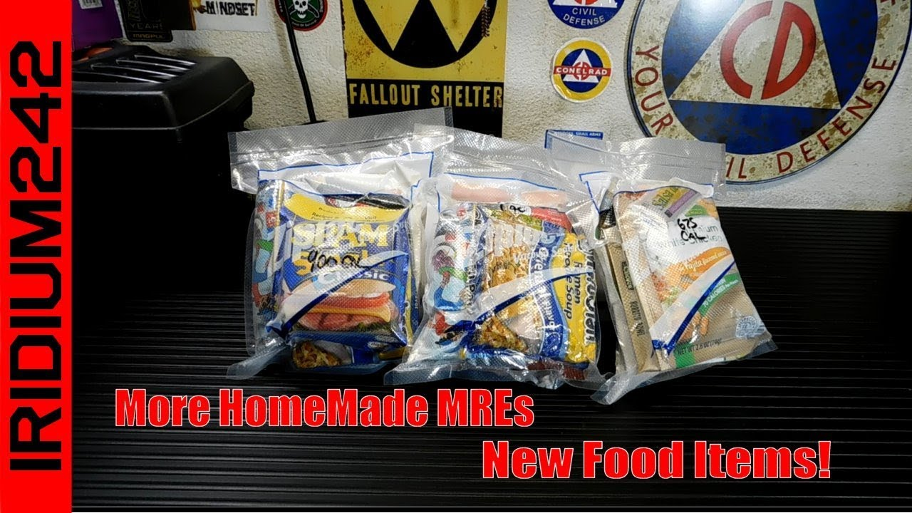 Making More HomeMade MREs And New Food Items!