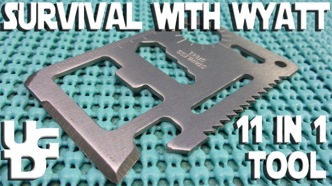 11 in 1 Multipurpose Pocket Survival Tool Review with the Wyatt & Giveaway