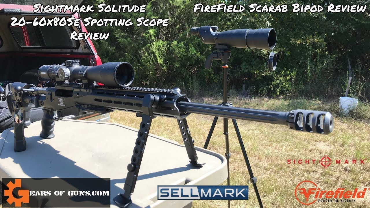 Sightmark Spotting Scopes and Firefield Scarab Bipod Review GALORE!