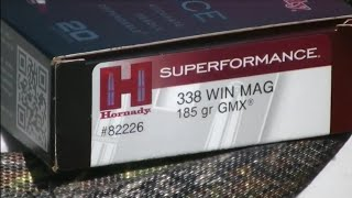 338 Winchester Magnum Ruger M77 Hornady 185gr GMX Review