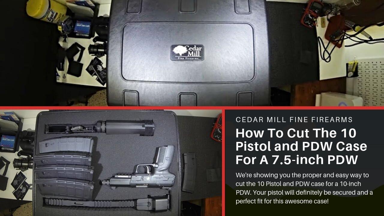 Cedar Mill Fine Firearms: How To Cut The 10 Pistol & SBR Case For A 7.5-inch PDW, TEOTWAWKI Bug out