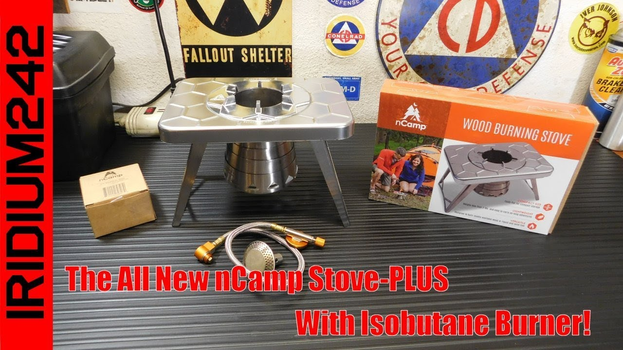 The All New nCamp Stove PLUS Burns Wood Or Gas!