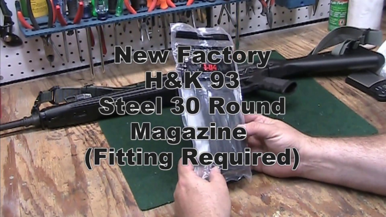 New Factory H&K 30 Round Steel Magazine (Fitting Required)