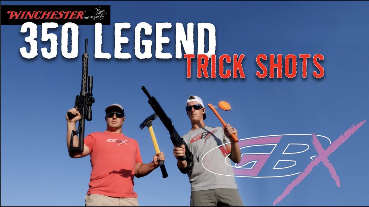 350 Legend Rifle/Pistol Trick Shots | Gould Brothers