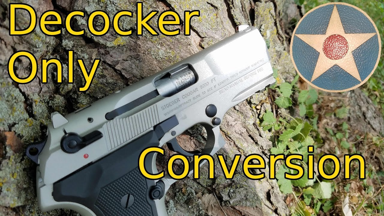 Stoeger / Beretta Cougar Decocker only G Conversion