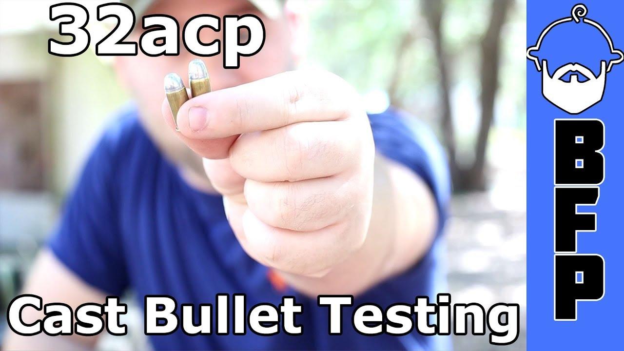32acp Cast Bullet Testing