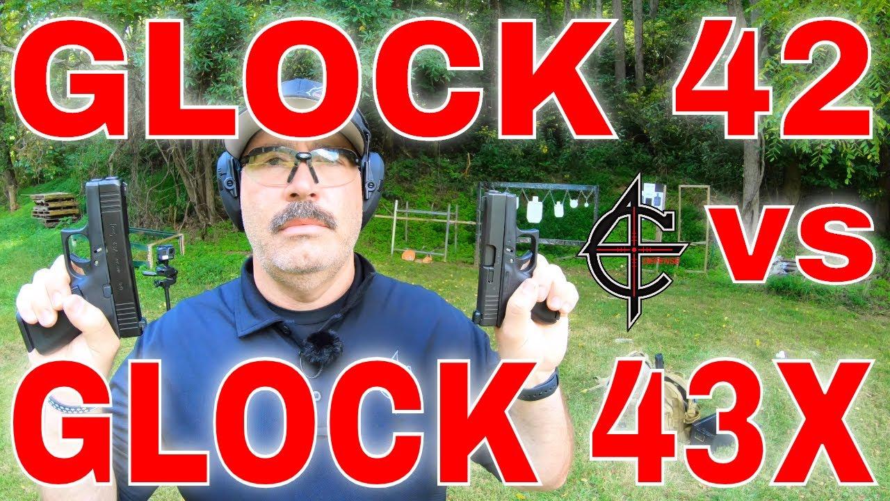 Glock 43X Black vs Glock 42