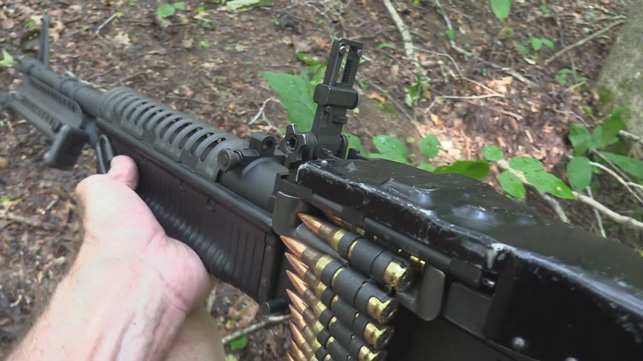 M60 Machine Gun Close-up