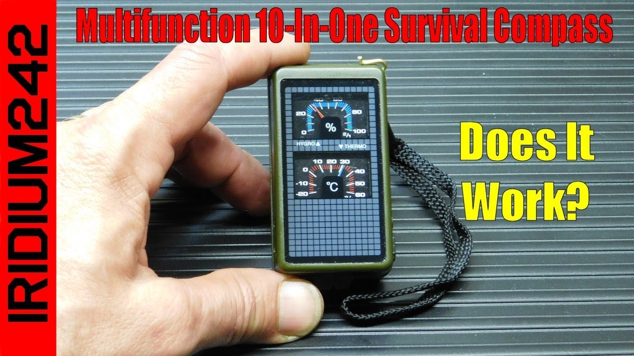 Multifunction 10 In One Survival Compass Kit