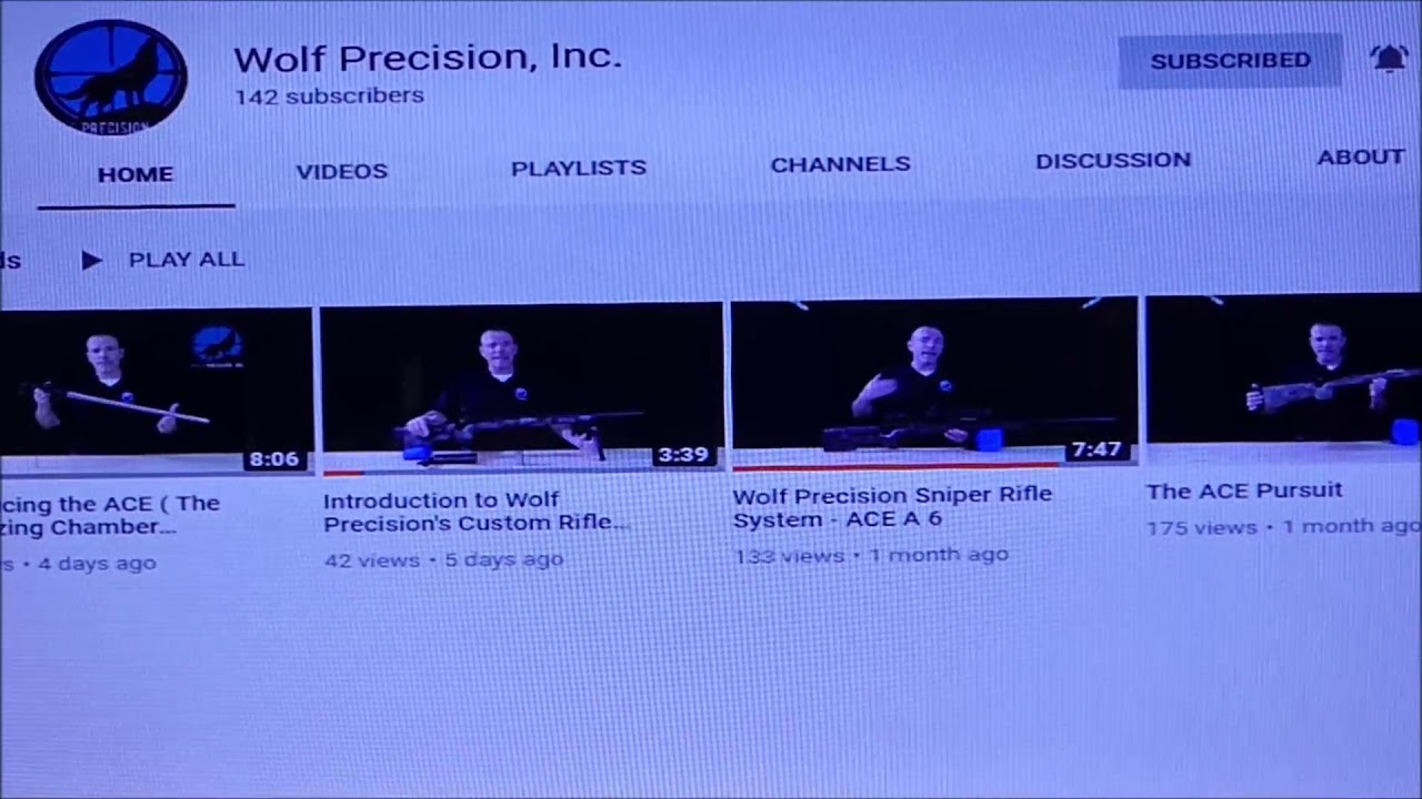 Shout out to Wolf Precision Inc