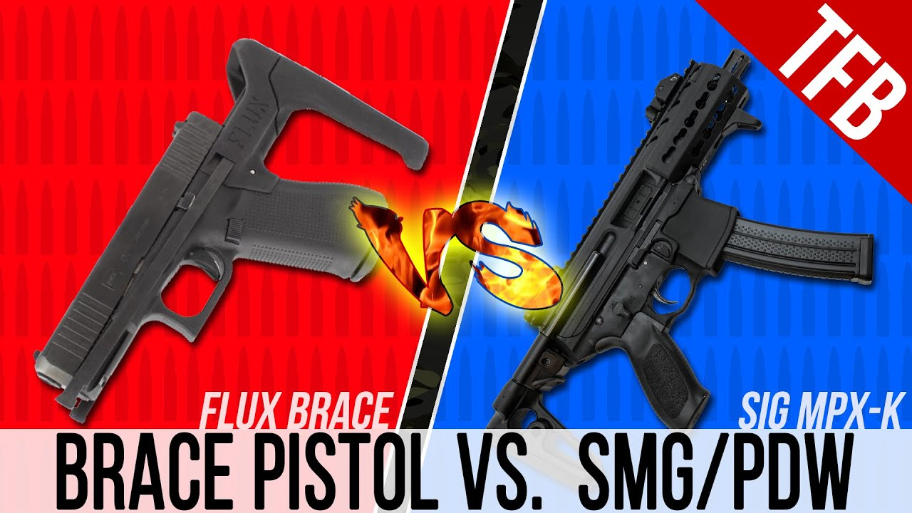 Glock 17 Flux Brace vs. SIG MPX-k: Which is Better, Braced Pistol or PDW?