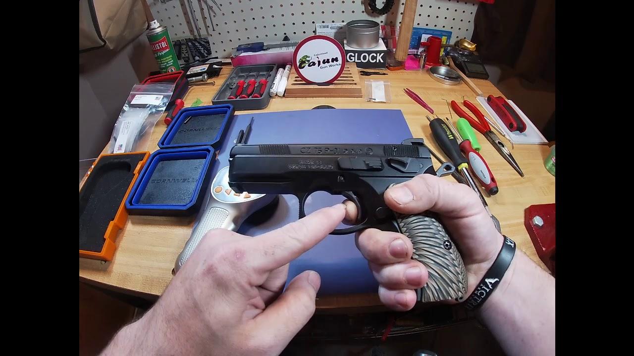 CZ P01 Omega Cajun Gun Works 75700 Trigger Kit Before & After