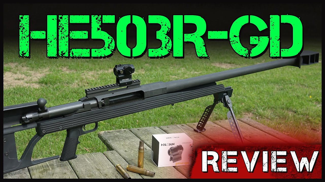 Can Holosun's New Gold Dot Take The Punishing Recoil Of A Fiddy? HE503R-GD Review