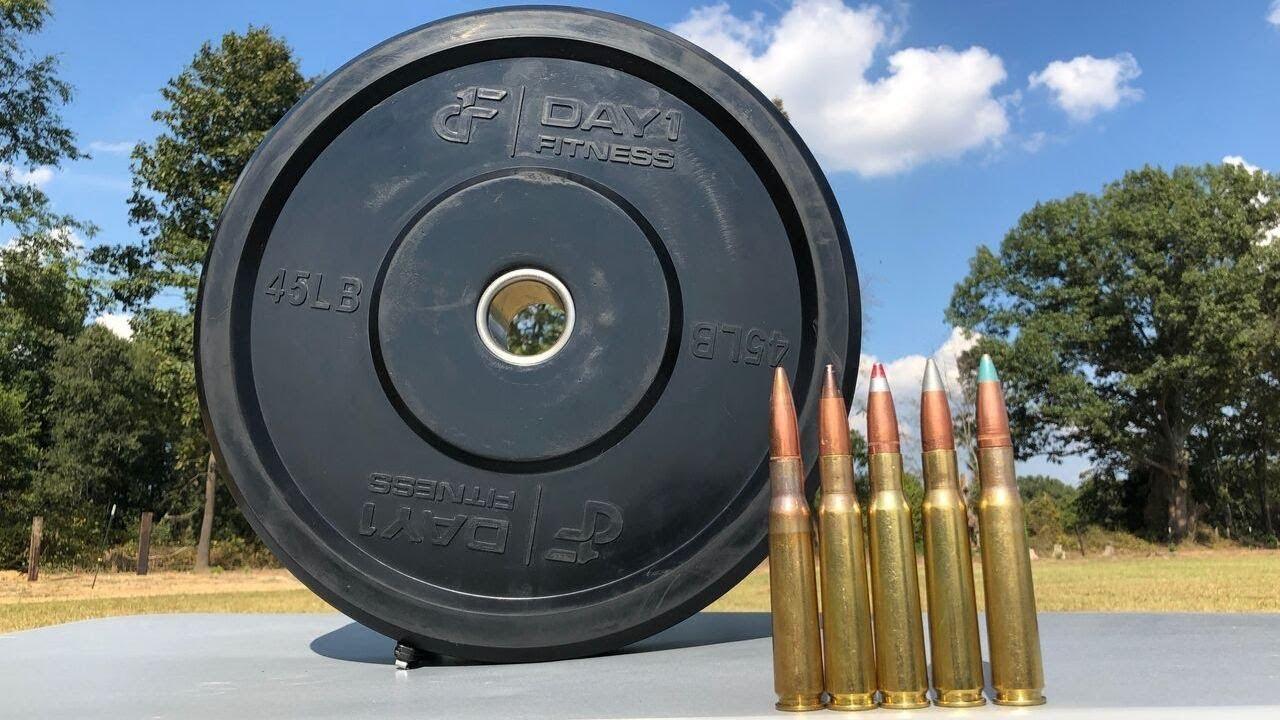 50 BMG vs Bumper Plate 🏋️